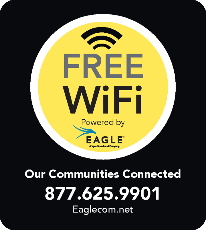 FREE WiFi Powered by Eagle - 877.625.9901