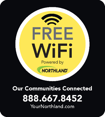 FREE WiFi Powered by Northland - 888.667.8452