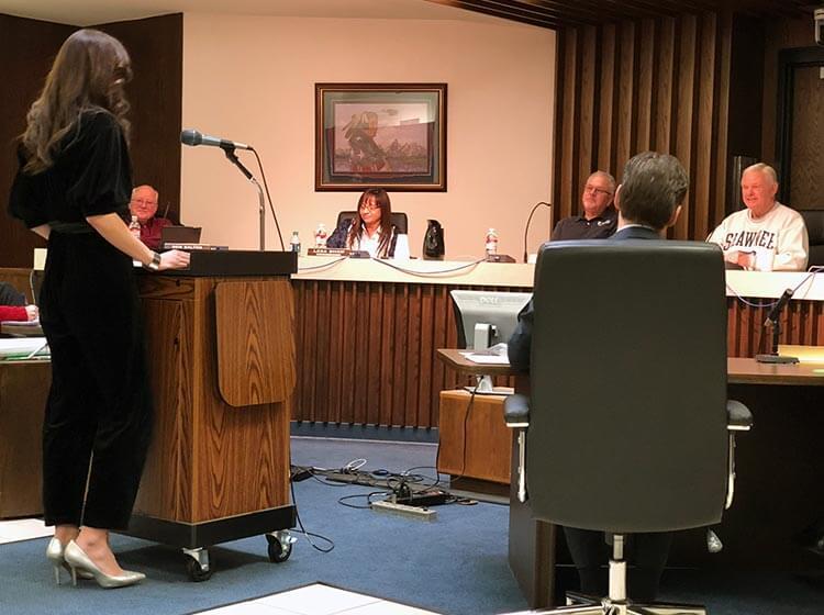 Shawnee Mayor and CSPAN at press conference